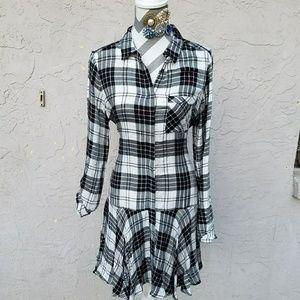 Sam Edelman Sophie plaid  shirtdress